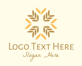 Farmers Market - Organic Wheat Farm logo design