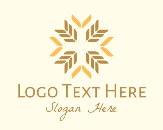 Farm - Organic Wheat Farm logo design