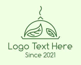 Salad Restaurant - Green Vegan Cuisine logo design