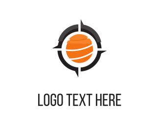 Globe - Orange Compass  logo design