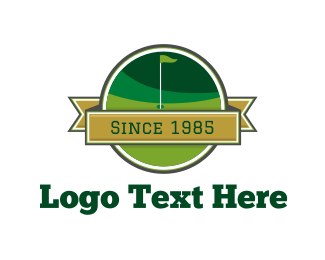 Golf Tournament - Golf Course Sport Emblem logo design