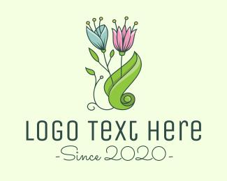 Stamen - Garden Eco Flowers logo design
