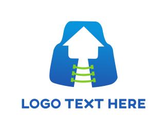 Insurance - House & Vest logo design