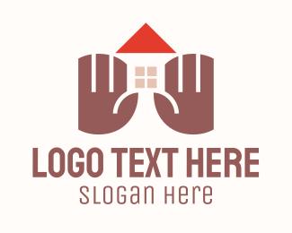Home Rental - Home Property Hands logo design