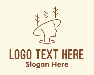 Woodsman - Forest Hat Woman logo design