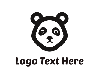 Panda - Sad Panda logo design