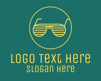 Neon Lights - Yellow Summer Sunglasses  logo design