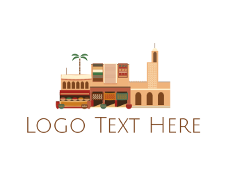 Algeria - Arab Neighborhood logo design