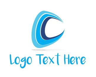 Fluid - Water Letter C logo design