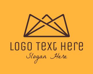 Landform - Brown Mountain Crown logo design