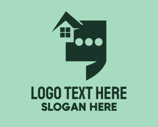 Realty - House Chat Realty logo design