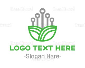 Tagline - Electronic Flower logo design