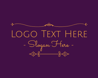 Ab - Luxurious Elegant Text logo design