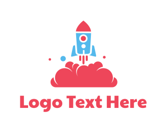 Preschool - Rocket Toy logo design