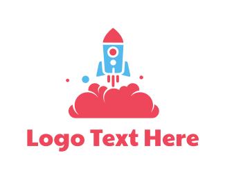 Kids - Rocket Toy logo design