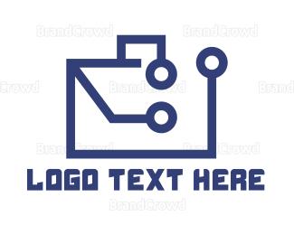 Briefcase - Tech Briefcase logo design