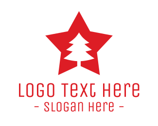 Russia - Red Tree Star logo design