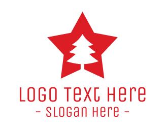 Winter - Tree Star logo design