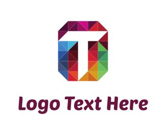 Jewel - Letter T & Triangles logo design
