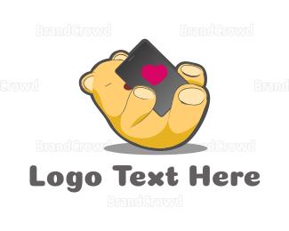 Joy - Bear Phone Love logo design