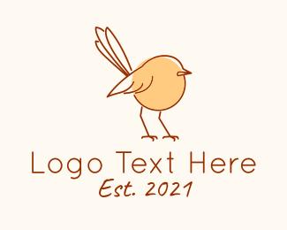 Sparrow - Sparrow Line Art logo design