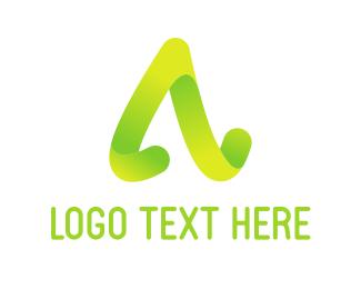 Teacher - Curved Letter A logo design