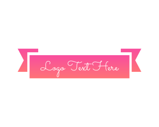 Banner - Pink Banner logo design