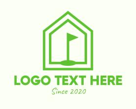 Green Home Golf Course Logo
