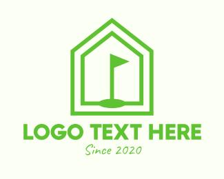 Golf Course - Green Home Golf Course logo design
