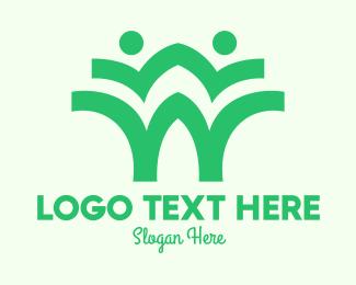 Natural Product - Green Environmentalist Community logo design