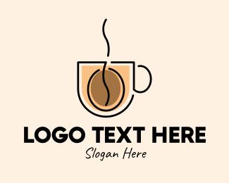 Roasted - Robusta Coffee Cup logo design