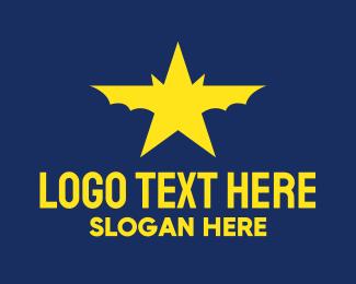 Actor - Celebrity Star Bat logo design