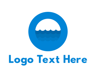 Ocean - Ocean Blue Circle logo design