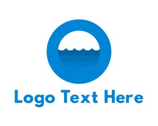 Letter O - Ocean Blue Circle logo design