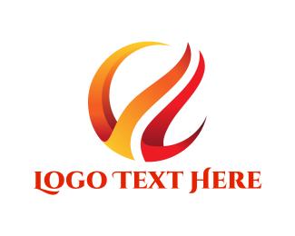 Burning - Red Flames logo design
