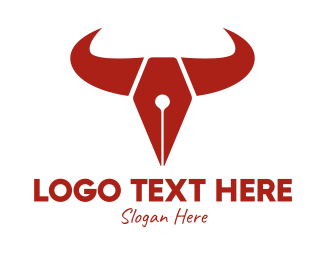 Fountain - Bull Fountain Pen  logo design