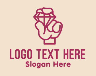 Gem Stone - Diamond Jeweler Monoline  logo design