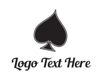 Casino - Black Spade logo design