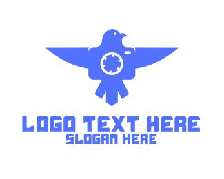 Blue Drone - Blue Bird Drone logo design