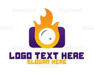 Burn - Fire Camera logo design