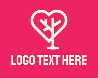 Heart - Tree Heart logo design