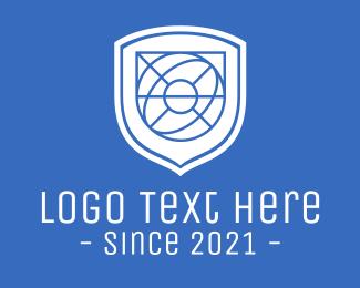 Defend - Global Eye Shield logo design