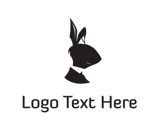 Hare - Black Rabbit  logo design