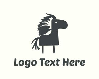 Pony - Black Pony logo design