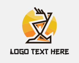 Coyote - Abstract Deer logo design