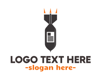 War - Explosive News logo design