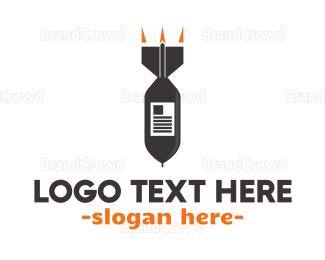 Editor - Explosive News logo design