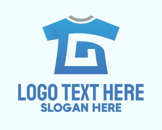Garment - Blue Shirt Letter G logo design
