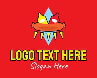 Street Food - Retro Hot Dog Stand logo design