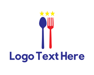 Filipino - Blue & White Stars Cuisine logo design
